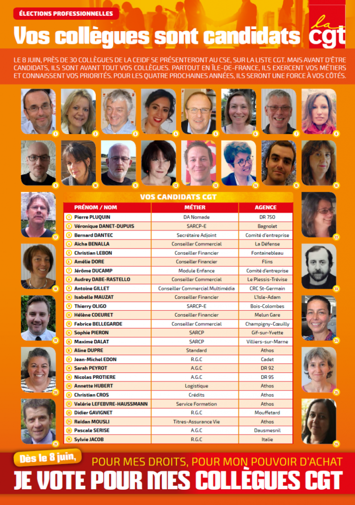 candidats CGT